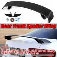 A4 A6 TT TTS Carbon Fiber Look/Gloss Black Car Rear Trunk Spoiler Wing For Audi A3 S3 A4 S4 A5 S5 RS5 A6 S6 A7 A8 R8 TT TTS TTRS