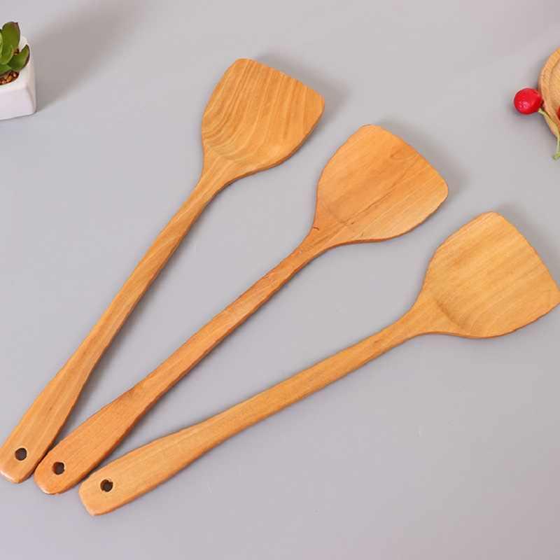 Herramienta de cocina de alta calidad, utensilios de cocina, pala de madera, espátula de madera, herramienta de cocina para Pan antiadherente, arroz cuchara