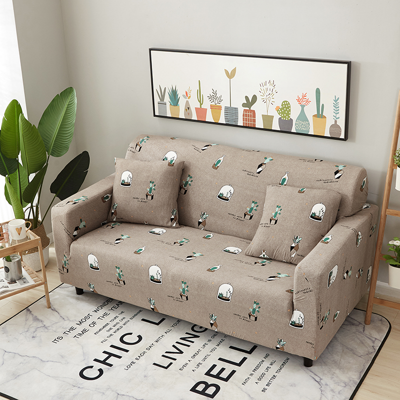 1//2//3//4 Seater Cartoon Stretch Sofa Covers Protector Couch Cover Slipcover