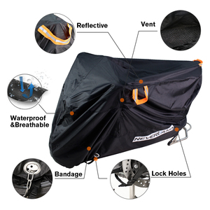 Image 2 - 210D High Quality Waterproof Outdoor Motorcycle Moto Cover Electric Bicycle Covers Motor Rain Coat Dust Suitable for All Motors