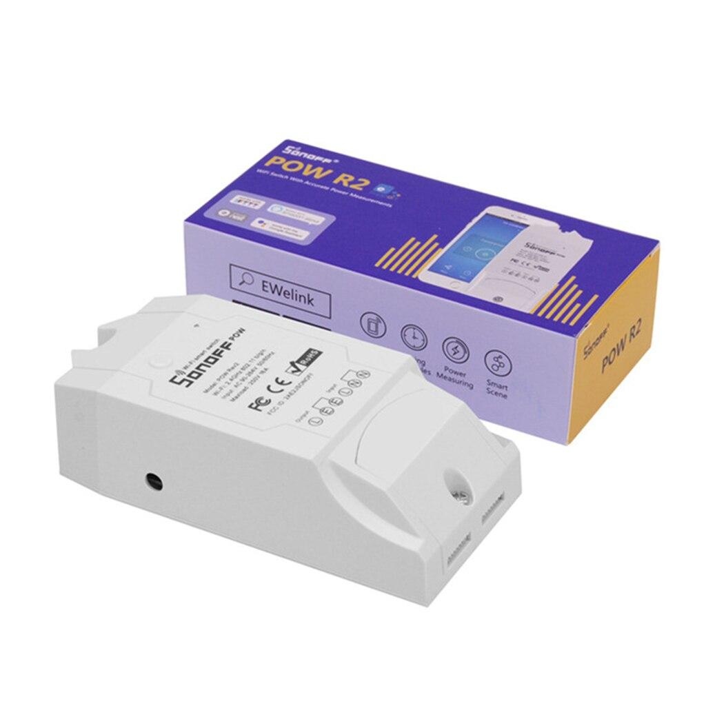 SONOFF POW R2 15A 3500 Вт Wifi переключатель контроллер в режиме реального времени энергопотребление монитор измерения для автоматизации умного дома