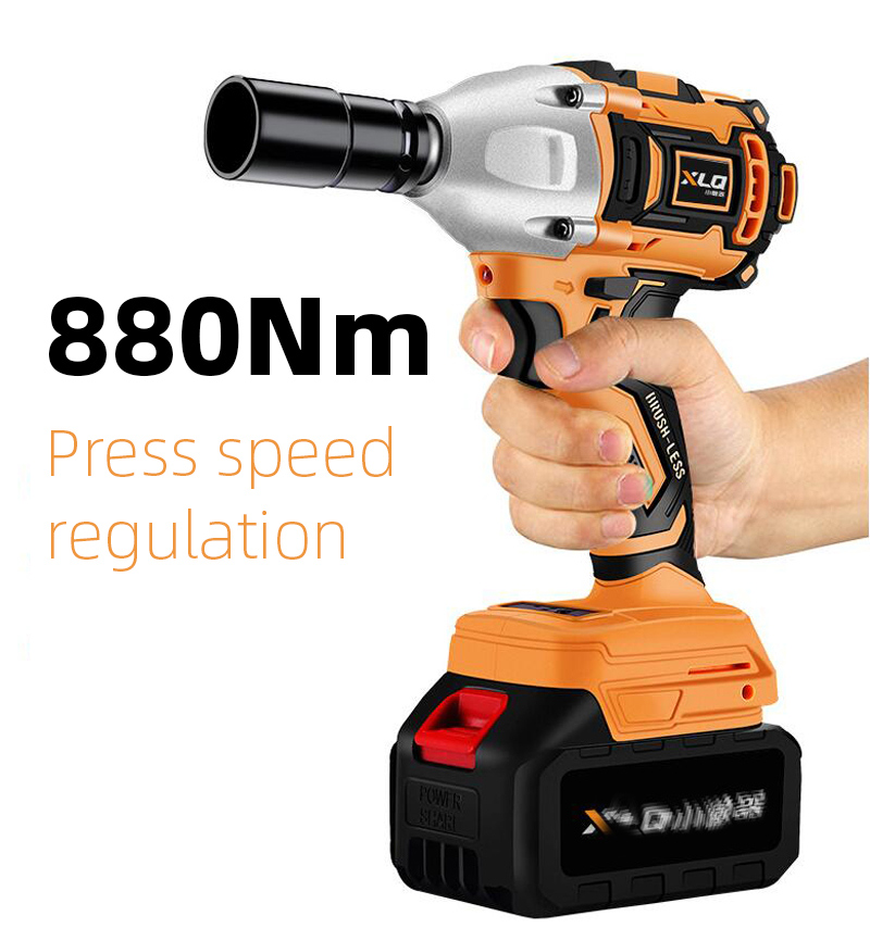 580Nm 680Nm 880Nm Impact Wrench Electric Burshless Impact Cordless Wrench Electric Wrench Rechargeable Lithium Battery