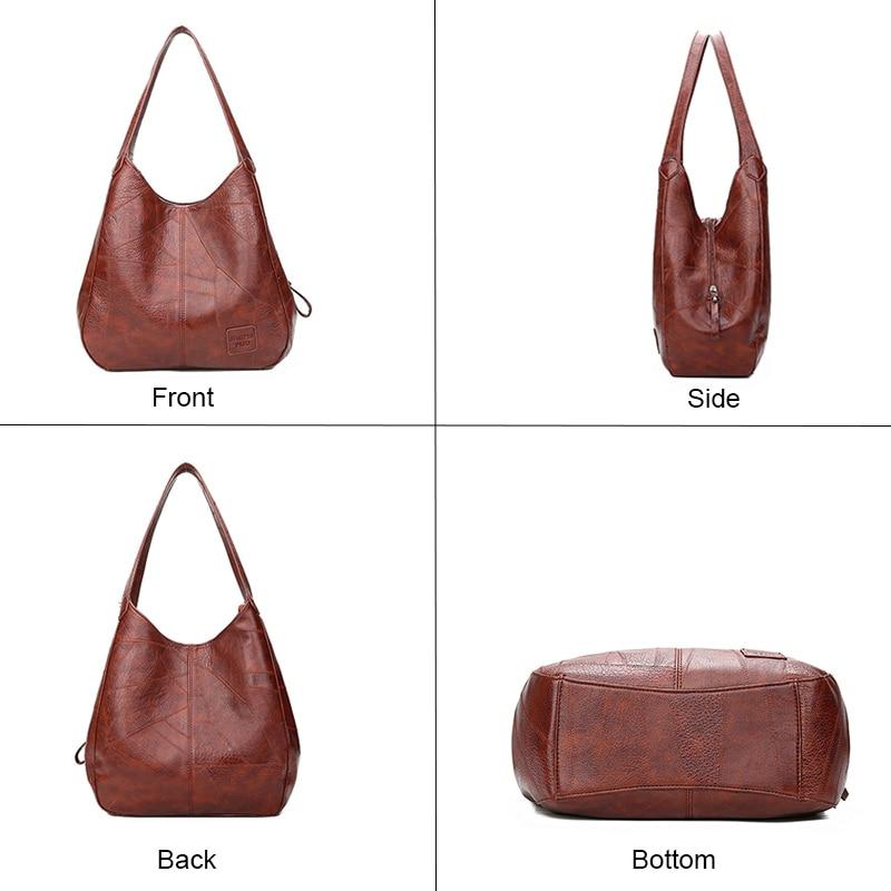 Vintage Shoulder Bag Female PU Leather Womens Bag Designers 2021 Luxury Totes Fashion Top-handle Bags Travel Bag for Ladies 2