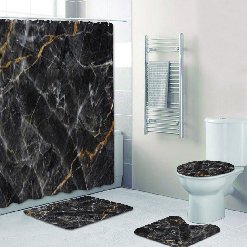 Best Bathroom Accessories Marble Black Near Me And Get Free Shipping A444