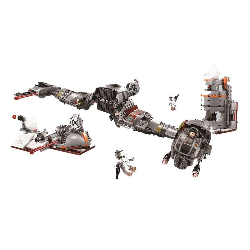 Bela 10913 773Pcs Defense Of Crait Building Blocks Bricks Kids Toys Gift Compatible With Star Wars 75202