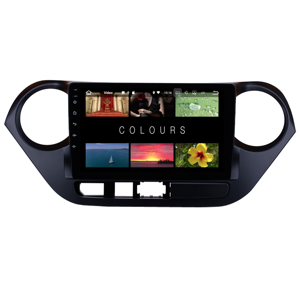 RoverOne Car Radio Navigation For <font><b>Hyundai</b></font> <font><b>i10</b></font> <font><b>Grand</b></font> <font><b>i10</b></font> 2013 - 2017 Touch Screen Android <font><b>GPS</b></font> Bluetooth Central Multimedia Map image