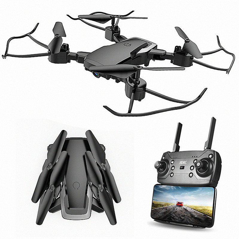 Folding Remote-controlled Unmanned Vehicle Pressure Set High WiFi High-definition Aerial Photography Quadcopter UFO Cross Border