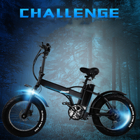 GW20 Eur no tax 500w foldable fat 2 wheel electric bike 15ah removable bt beach cruise booster electric bike snow   -