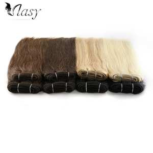 Vlasy Hair-Weave-Bundles Human-Hair-Extensions Double-Drawn Weft 16'' 12'' 110g/pc 100%Remy