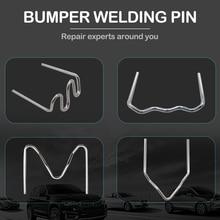 500Pcs Hot Stapler Plastic Repair Standard Pre Cut Wave Staples Bumper Bodywork Repairs 0.8/0.6mm Wave Staples Stainless Steel