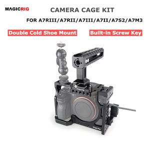 Image 1 - Magicrig dslr câmera gaiola com punho da nato + hdmi cabo braçadeira para sony a7riii/a7rii/a7ii/a7iii/a7sii dslr gaiola kit de extensão