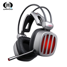 S21 Gaming Headset 7.1 Surround Sound Stereo Headphones with Microphone LED Light for Computer Gamer USB Game Headset цена