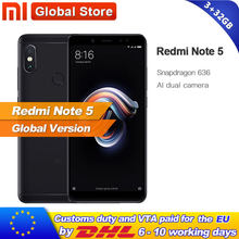 "Original Global Version Xiaomi Redmi Note 5 3GB 32GB Snapdragon S636 Octa Core Cellphone 5.99"" 12.0MP+5.0MP 4000mAh(China)"