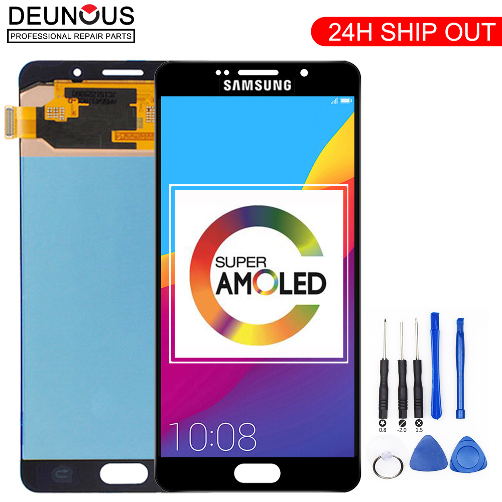 Original 5.5'' Super AMOLED <font><b>LCD</b></font> for <font><b>SAMSUNG</b></font> Galaxy <font><b>A7</b></font> 2016 <font><b>LCD</b></font> Display A7100 A710F A710 <font><b>LCD</b></font> Touch Screen Digitizer Replacement image