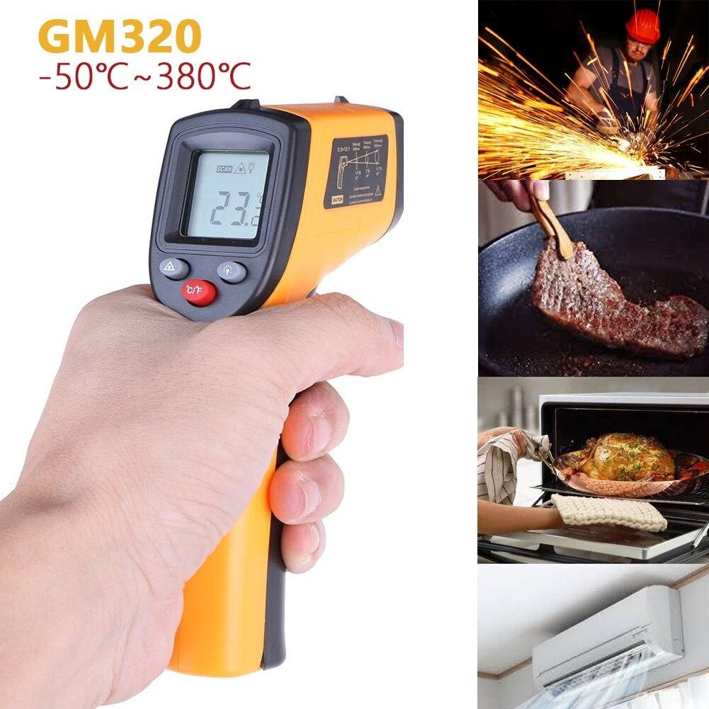 GM320 ручной термометр, бесконтактный термометр, тепловизор, датчик температуры, кухонные принадлежности, пирометр