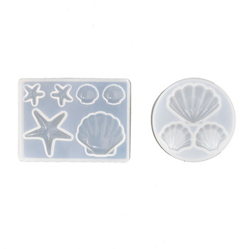 shell beads pendant Silicone Mold Resin Mould Jewelry Making geometry molds Square Round star moon