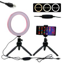 O Ring selfie Light Makeup for Youtube live stream salon makeup 8 10 USB 5V input 3 colors adjustable dimmable