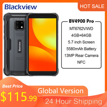 Blackview-teléfono inteligente BV4900 Pro, 4GB, 64GB, ocho núcleos, Android 10, resistente al agua, 5580mAh, NFC, 5,7 pulgadas, 4G
