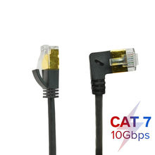 4mm OD CAT7 Ethernet Cable RJ45 Right Left Up Down Angle UTP Network Cable Patch Cord 90 Degree 10Gbps Cat 7 Lan Cables