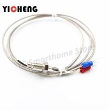 1 M / 2 M / K / E screw type M6 / M8 thermocouple control screw probe temperature controller 0-400C/ 0-800C sensor probe стоимость