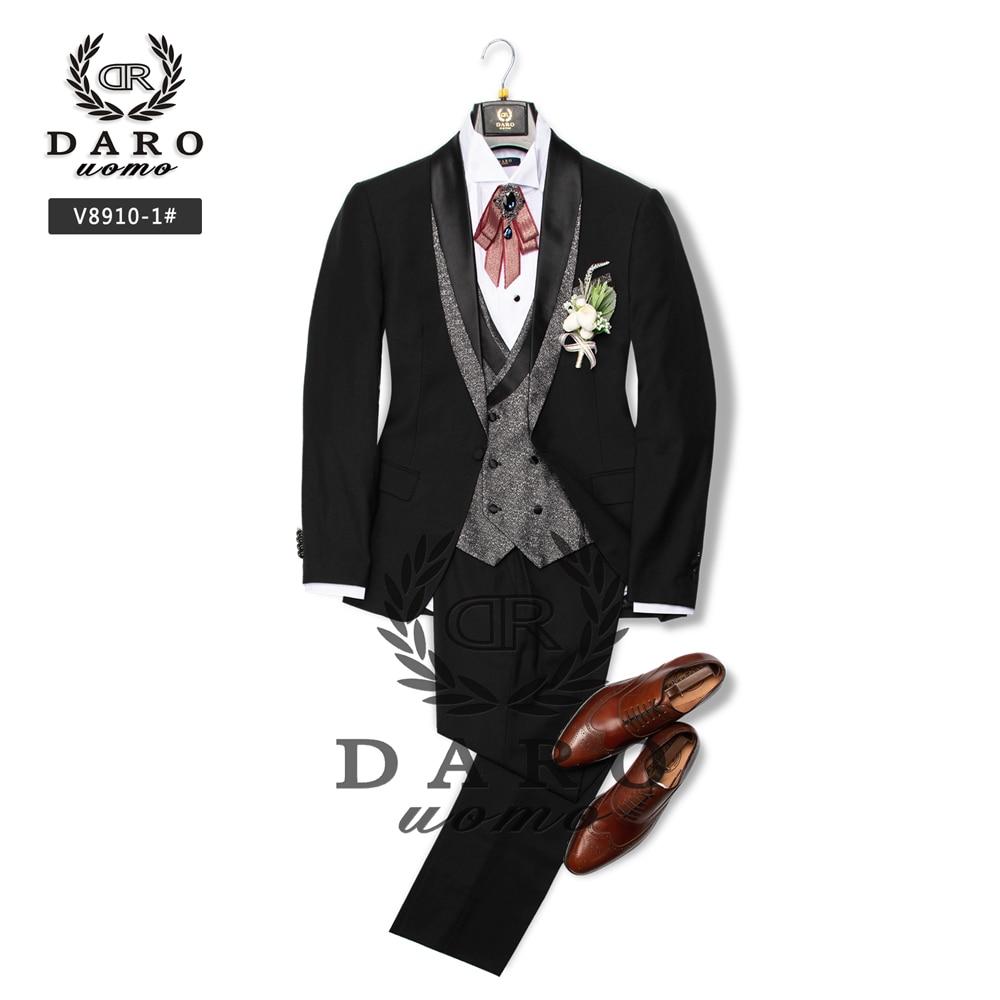 DARO Tuxedo Black Bridegroom Suit Wedding Groom Tuxedo Party Fitting Suit 2020 NEW Desingn