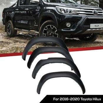 цена на Wheel Arch Fender Flares Mudguards For Toyota Hilux Revo Rocco 2016 2017 2018 2019 2020 Matte Black 6pcs/set 5