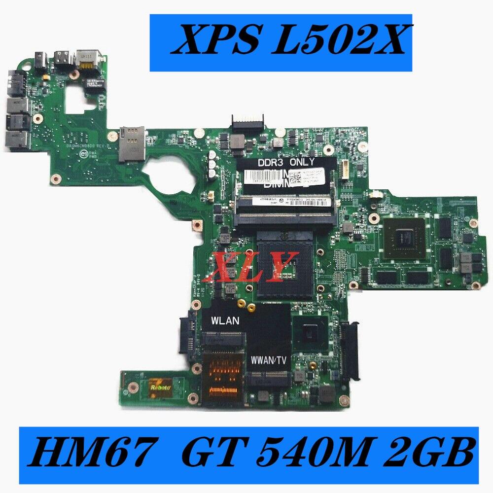 Материнская плата для ноутбука XLY 714WC 0714WC DAGM6CMB8D0 s989 для Dell XPS L502X, материнская плата HM67 w/ GT 540M, работает 2 Гб