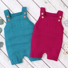 Infant Baby Rompers Baby-Boy-Girls Pure-Color Autumn Braces Knitting