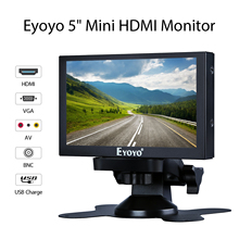 Eyoyo EM05C 5 inch Mini TV Computer Monitor 800X480 Color LCD Screen Car Rear View Camera Monitor With HDMI BNC USB VGA AV Input