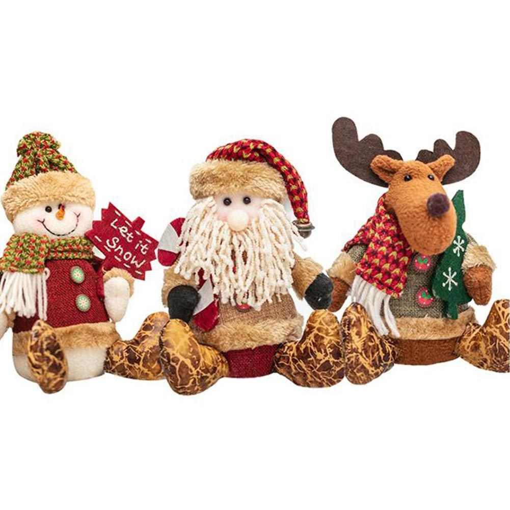 Орнамент плюшевый мультфильм гостиная Рождественская Кукла мягкий снеговик дети подарок Санта Клаус милые вечерние игрушки декорация для дома