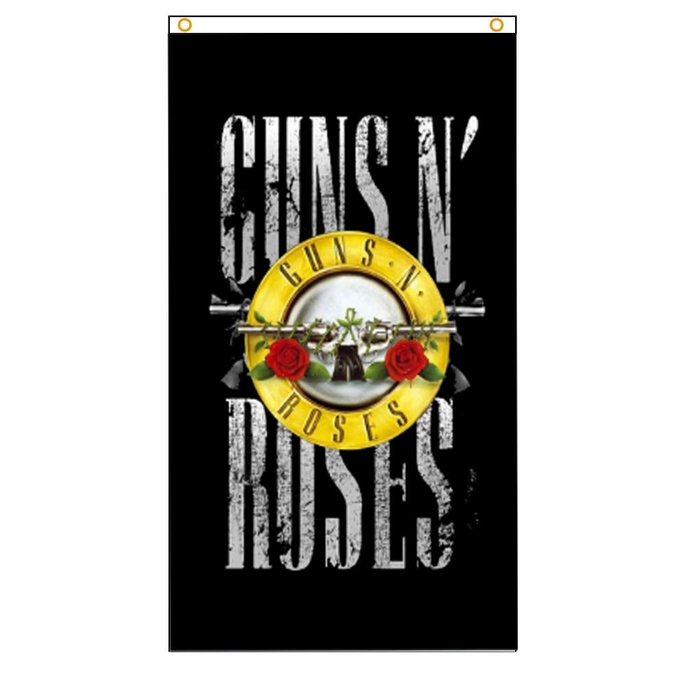 90x150cm 3x5ft American Guns N' Roses Hard Rock Band Flag