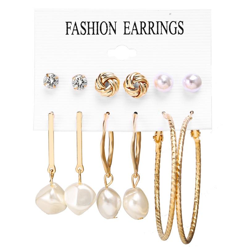 17 км акриловые серьги с кисточками для женщин, богемные серьги, набор больших геометрических висячих сережек Brincos, Женские Ювелирные изделия DIY - Окраска металла: Earrings Set 8