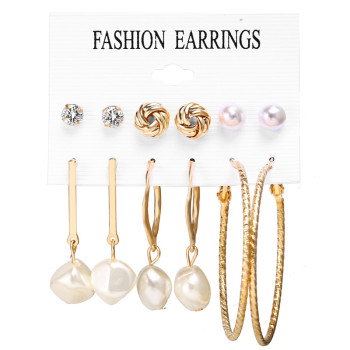 Women Bohemian Earrings Set Big Earrings Jewelry Women Jewelry Metal Color: Earrings Set 8