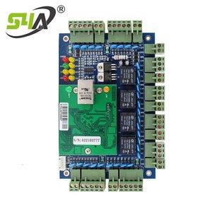 Image 5 - Dört kapı ağ erişim kontrol paneli kurulu yazılım ile iletişim protokolü tcp/ip kartı Wiegand okuyucu 4 kapı kullanımı