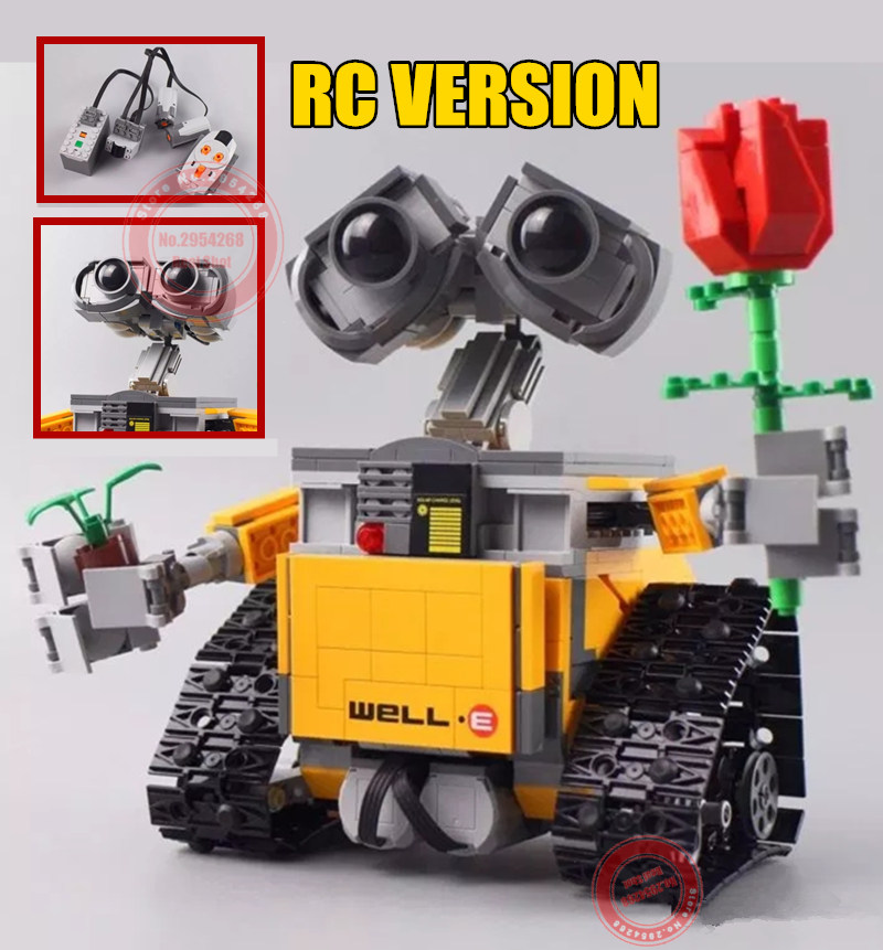 New MOC RC Motor Power Function Fit Legoings Technic WALL E Robot Figures Building Block Brick Diy Toy Gift Kid