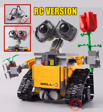 New MOC RC Motor Power Function Fit Legoings Technic WALL E Robot Technic Figures Building Block Brick Diy Toy Gift Kid