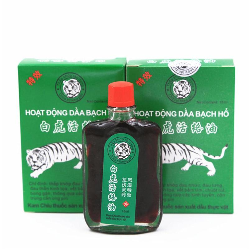 18ml White Tiger Balm Oil Shoulder Osteoarthritis Bone Active Oil Spurs Cervical Spondylosis Pain Relief Rheumatic Relaxation