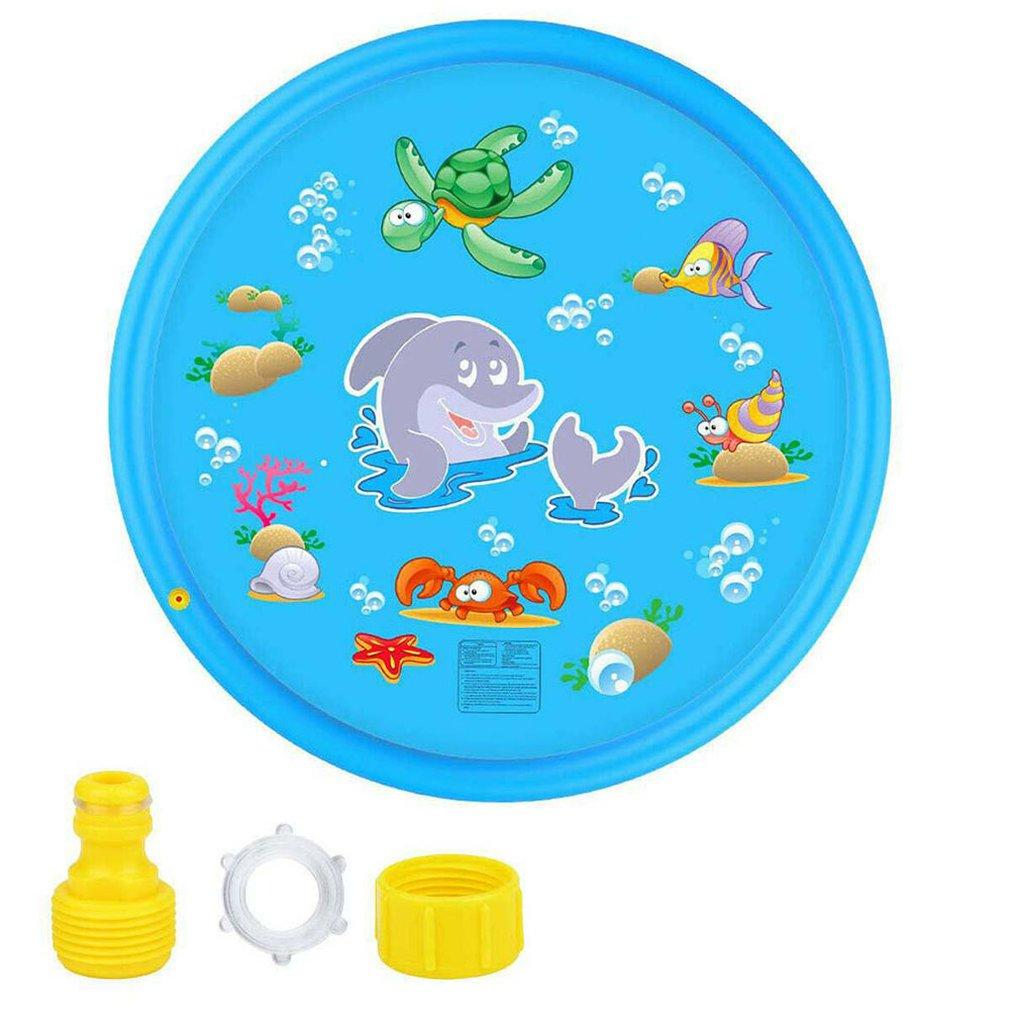 100CM Kids Sprinkler Pad Mat Children Summer Outdoor Water Splash Play Mat Lawn Inflatable Sprinkler Cushion Toy