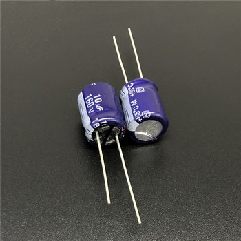 10Pcs/100Pcs 10uF 160V M Series 10x12.5mm High Quality 160V10uF Audio Grade Capacitor image
