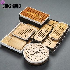 Image 1 - CAKEHOUD China Puer Tea Bamboo Tray Tea Tray Drainage Water Storage Table Kungfu Tea Ceremony Board Service Tray TeaAccessories