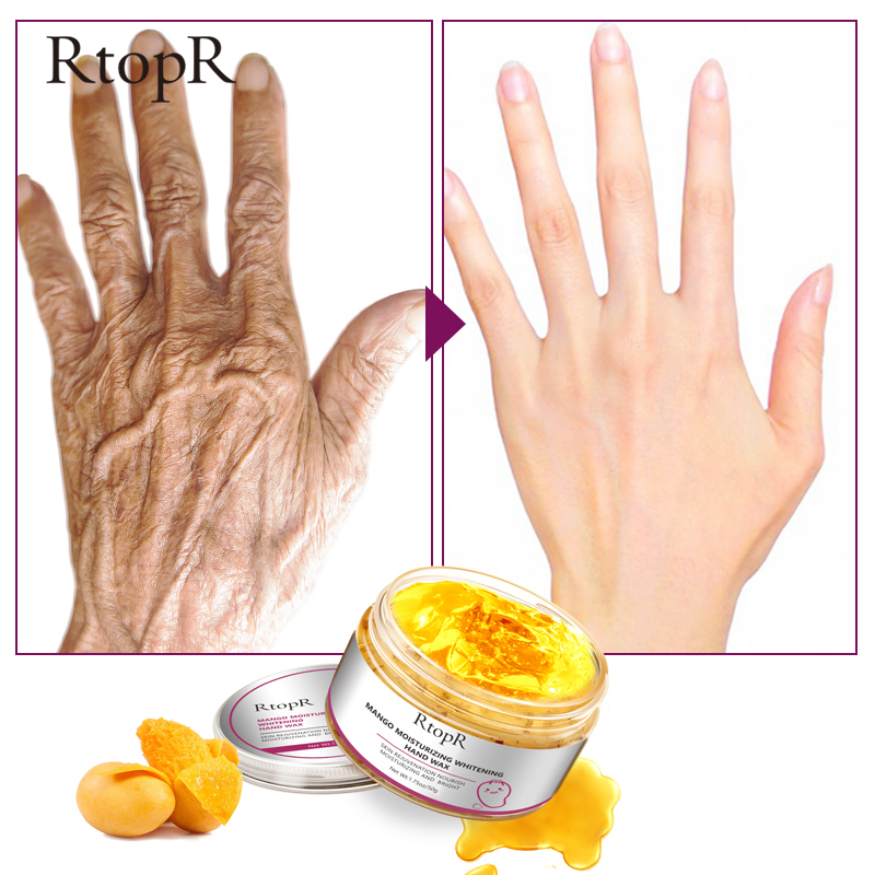 1PC Mango Moisturizing Hand Wax Whitening Skin Hand Mask Repair Exfoliating Calluses Film Anti-Aging Hand Skin Cream 50g TSLM1