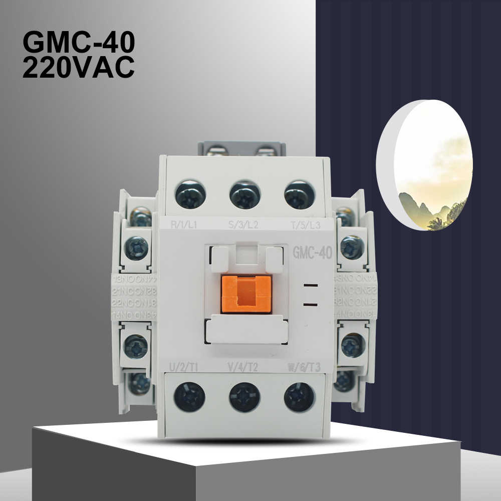 ManHua 3P GMC-40 220VAC 40A Electrical Magnetic Contactor Three Phase For Protect Home Improvement And Electrical Equipment