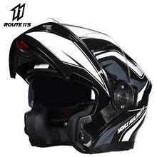 Yoai capacete da motocicleta flip up capacetes de motocross rosto cheio moto capacetes motocicleta casco moto com lente doublel