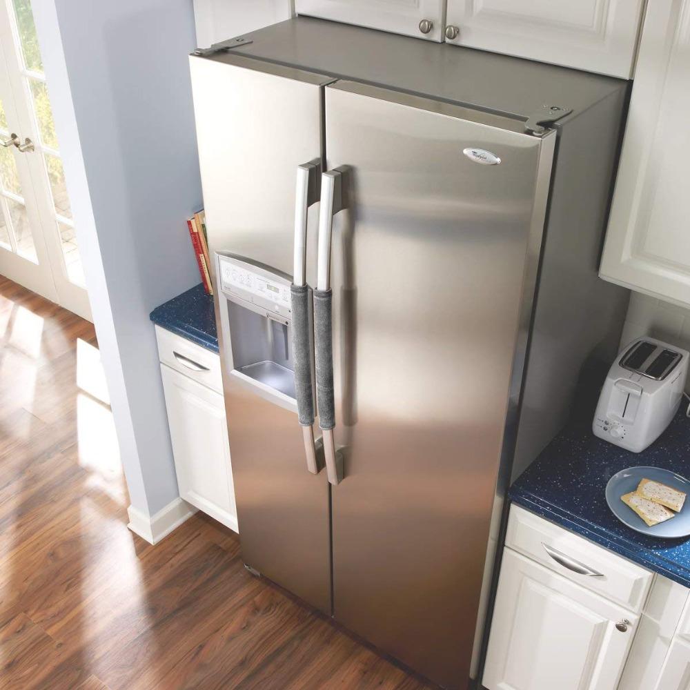 ZHONGLI Flannel Refrigerator Door Handle Cover Antiskid Water Absorption Freezer /& Oven Handles Protector Gloves As Kitchen Appliance