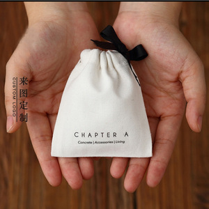 "Image 2 - Bolsas de regalo para joyería, cinta de algodón, 8x10cm(3 ""x 4"") 9x12cm 10x15cm(4 ""x 6"") 13x17cm, bolsitas con cordón para maquillaje y pestañas"