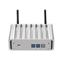 Мини-компьютер без вентилятора Intel Core i3-4010Y i5-4200Y i7-4610Y Windows 10 Linux HDMI VGA Wi-Fi Gigabit LAN компактный настольный ПК