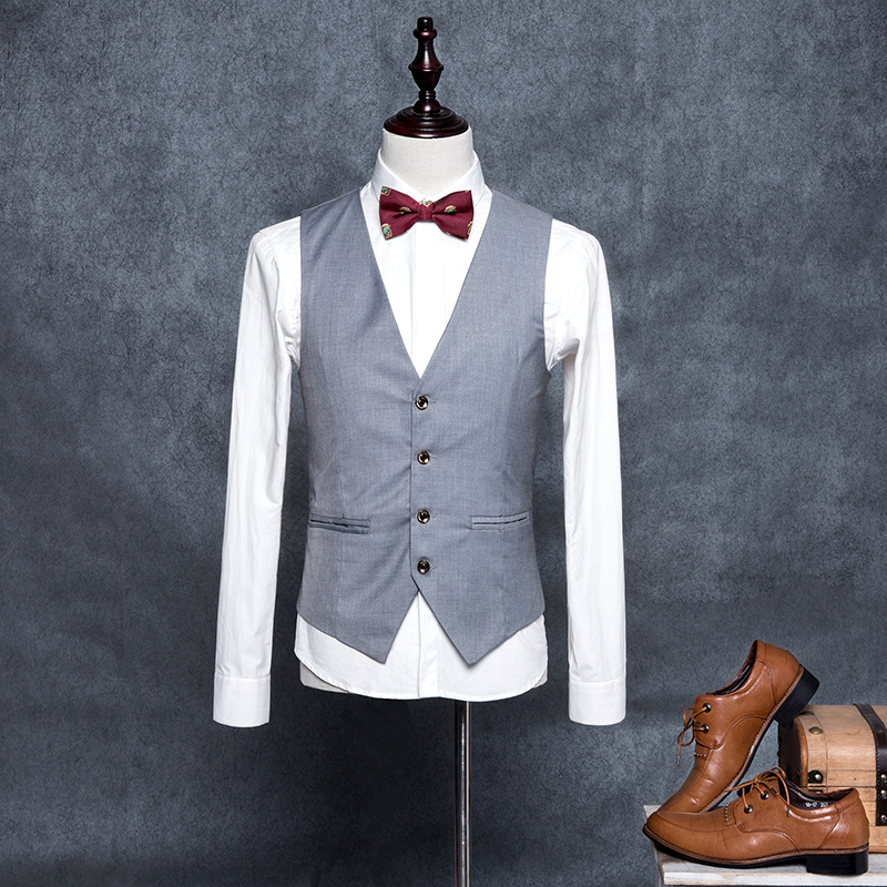 Male Wedding Dress Vests For Men Slim Fit Suit Vest Mens Red Grey Waistcoat Gilet Homme Casual Sleeveless Formal Business Jacket