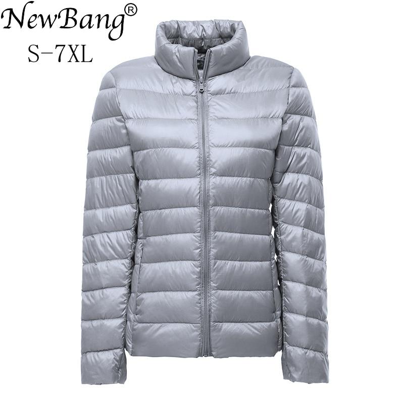 NewBang Plue Size 6xl 7XL Duck Down Jacket Women Ultra Light Down Jacket Feather Jacket Plus Women's Overcoat Windbreaker Coats