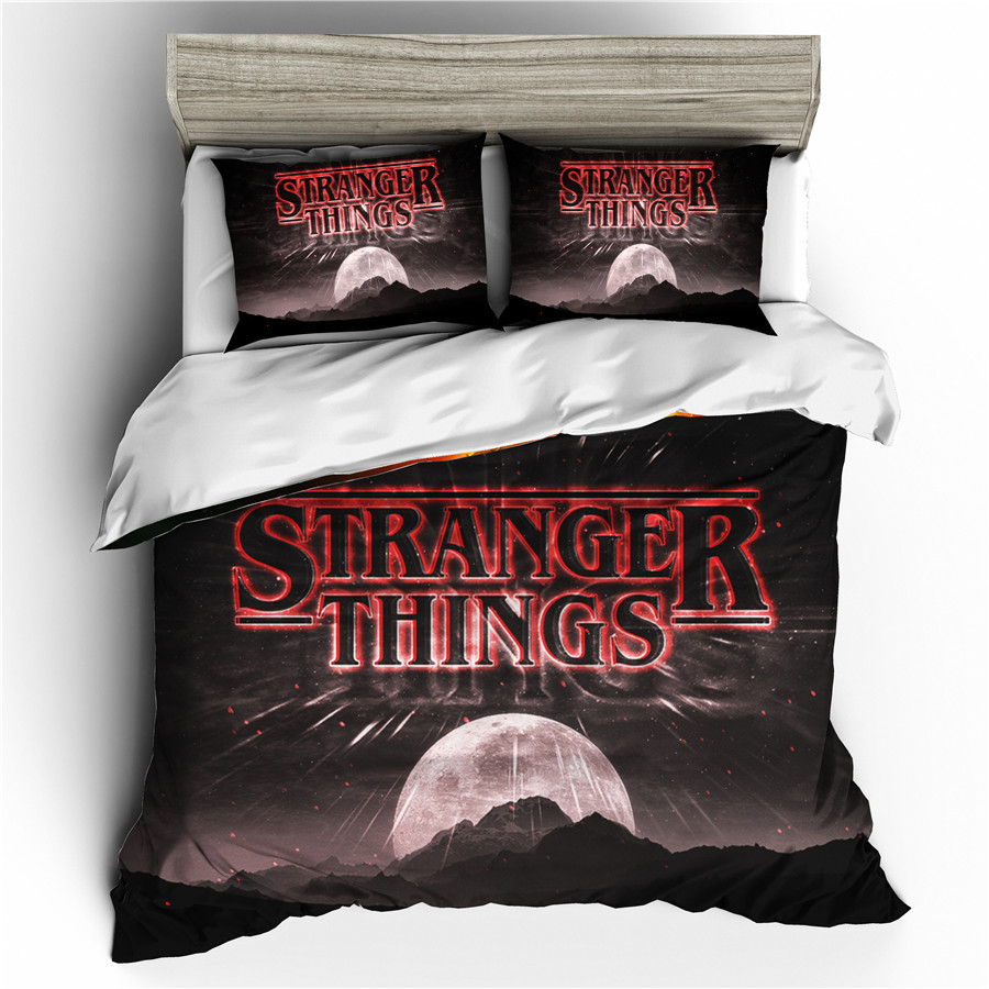 A Bedding Set 3D Printed Duvet Cover Bed Set Stranger Things Home Textiles for Adults Bedclothes with Pillowcase #SNT12