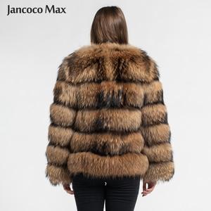 Image 3 - Fashion Style Fur Jacket Womens Real Raccoon Fur Coat Winter Keep Warm Luxury Outerwear S7375